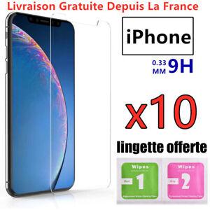 Film-Vitre-protection-Verres-trempes-iPhone-8-7-6-6S-Plus-5-X-XR-XS-MAX-11-Pro