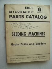 Original Mccormick Seeding Machines Drills Seeders Parts Catalog Manual Sm 1