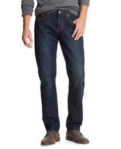 Men-s-New-Banana-Republic-Straight-Leg-Jeans-Size-30-31-32-33-34-35-36-Dark-Blue