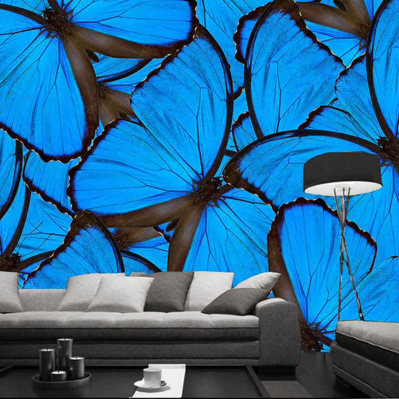 3D Blau Butterflys 84 Wall Paper Murals Wall Print Wall Wallpaper Mural AU Lemon