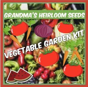 Pack of 15-Grandma's Heirloom Survival Non GMO Vegetable Garden Seeds