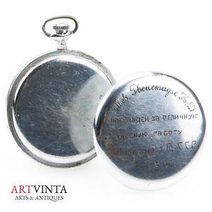 GroßZüGig Seltene Taschenuhr Udssr Sowjetunion Stalin 1939 Pocket Watch Soviet Union Rare Uhren