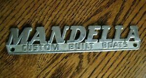 Details about Buiilders Plaque MANDELLA Custom Built Boats PASADENA CA  Mickey Thompson SPEED