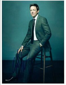 Seth-Meyers-Signed-Autographed-Late-Night-With-SNL-Comedian-8x10-Photo-COA-VD