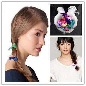 10PCS-Elastic-Bracelets-Knot-Rubber-Band-Hair-Tie-Hairband-Ponytail-Holder-HOAU