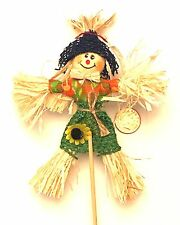 1:12 Real Straw Scarecrow Dolls House Miniature Garden Furniture Accessory BH