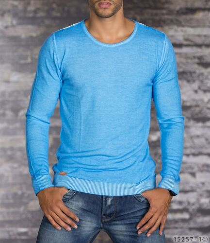 Pull Homme col rond Tailles S-M-L bleu Red Bridge
