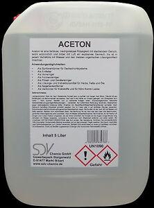 Turbo ACETON 5 Liter rein 99,5% Verdünnung Reiniger Entfetter RI74