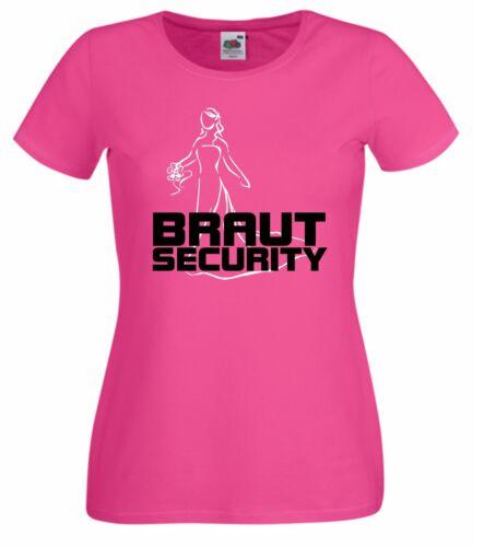 JGA Lady Shirts T-Shirt Junggesellinnenabschied    Braut Security Frauen JGA.