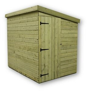 image is loading 7x6 garden shed shiplap pent roof tanalised door