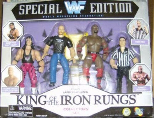 WWF WWF WWF WWE King Of The Iron Rungs - Referee Bret Hart  Stone Cold Steve Austin MIB bb614a