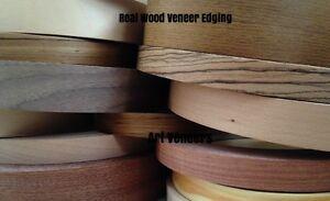 Real Iron on Wood Veneer Edging//Tape//Trim 22mm 30mm 40mm 50mm