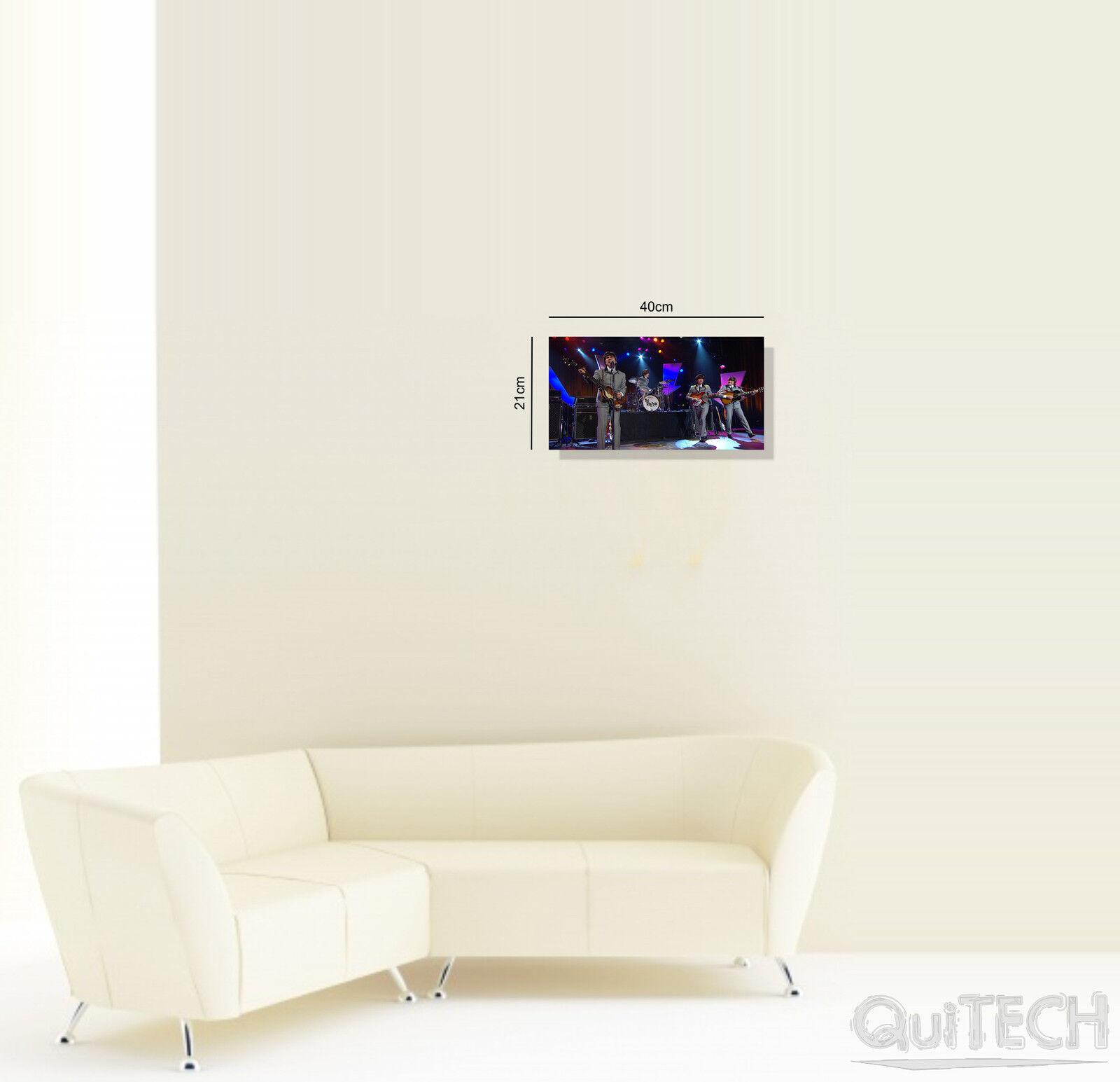 Fab 4 Four - 3 - su Quadro stampa su - Tela Pelle Canvas Dipinto Arte Moderna 6f82b6
