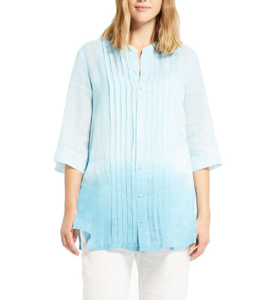 MARINA RINALDI Woherren Turquoise Betulla Ombre Shirt  NWT