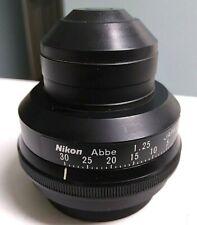 Nikon Abbe 125 Microscope Condenser For Labophot Optiphot Alphaphot