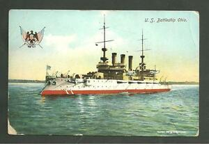 Ebay Boats Florida >> 1903 Used postcard U.S. Battleship Ohio military navy