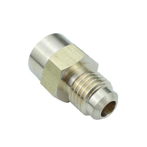 """Llamarada de bronce SAE Tubo montaje hembra conector 1//4/"""" Od 45 grados Flare 1//4/"""" NPT"""