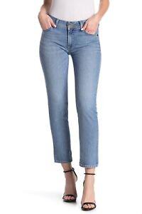 Hudson-31-034-Ginny-Straight-Leg-Crop-Blue-Wash-Women-039-s-Jeans