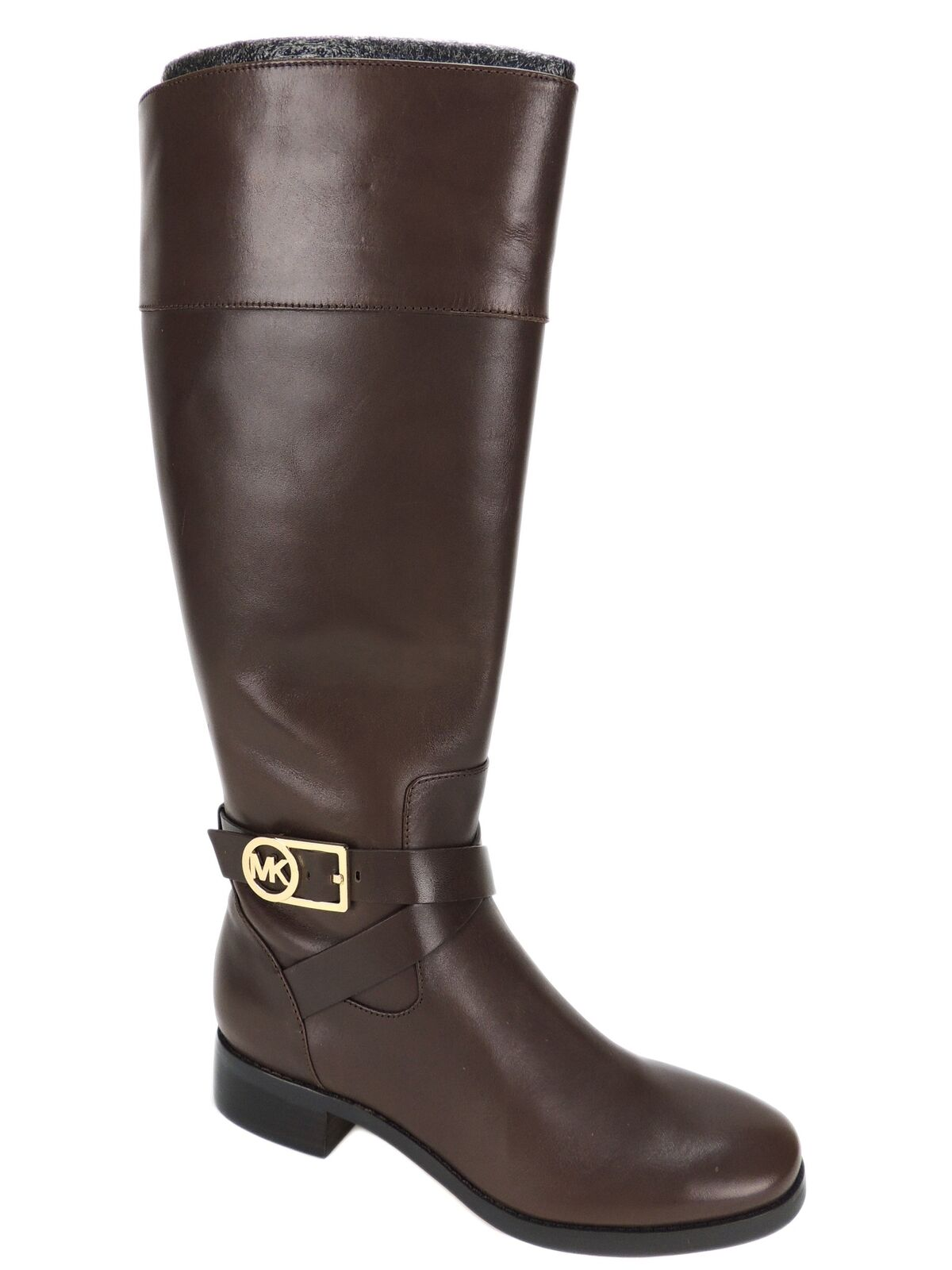 Michael by Michael Kors Women's Bryce Tall Boots Mocha Brown Leather 6.5 M