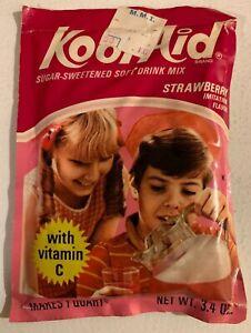 Vintage-1974-Kool-Aid-Full-Unopened-Pack-Strawberry-Sugar-Sweetened-Large-Packet