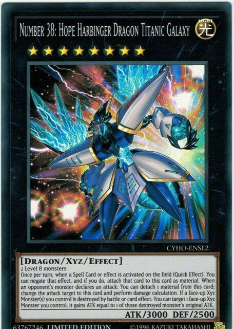 YuGiOh Number 38 Hope Harbinger Dragon Titanic Galaxy Super Rare NM CYHO-ENSE2