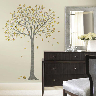 Roommates Gold Leaf Tree Wall Stickers