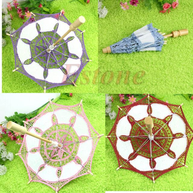 Party Decoration Lace Parasol Embroider Umbrella Wedding Bridal Decorate 15/19cm