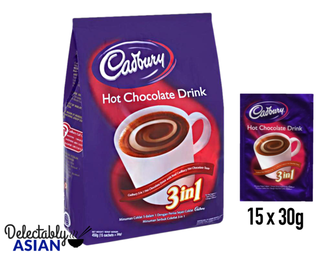 Cadbury Instant Hot Chocolate Mix With Real Dairy Milk 15 Sachets X 30g