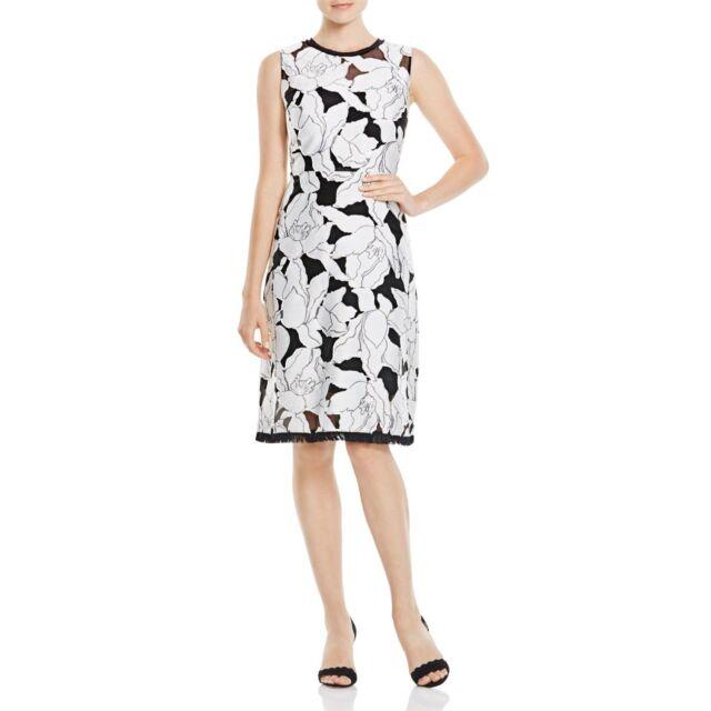 47372c02efa8 Elie Tahari Women's Ophelia Floral Jacquard Dress Black/white 6 for ...
