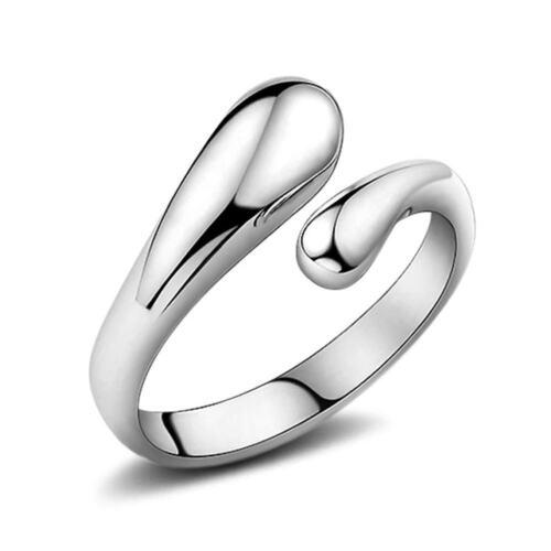 Lot 925 Silver Sterling Glaze Moonstone Gemstone Rings Band Fashion Wedding Ring