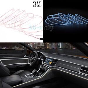Cold-El-Decor-Interior-Wire-White-Strip-Neon-Car-Light-Atmosphere-Unique-3M-Lamp