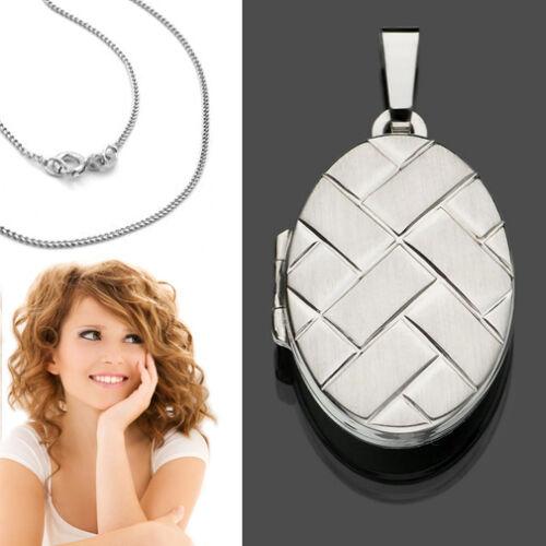 Foto medallón amuleto remolque oval /& cadena real plata 925 para 2 imágenes fotos