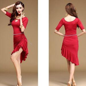 Latin-Salsa-Tango-Cha-Cha-Samba-Rumba-Jive-Ballroom-Evening-Dance-Dress-PlusSize