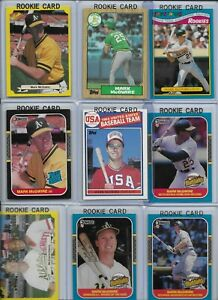 Mark McGwire A's Lot of (18) w/ (9) Rookies 1985 Topps #401 1987 Donruss #1 EX