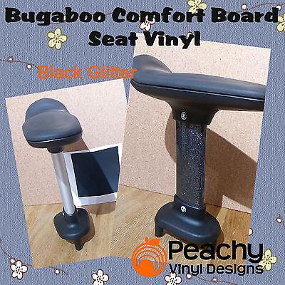 BLACK GLOSS Bugaboo Comfort Wheeled Board Seat Pole Pre-Cut Vinyl