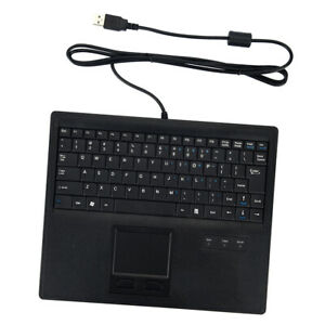 New USB Keyboard US English Layout w/ Touchpad Accs Black ...