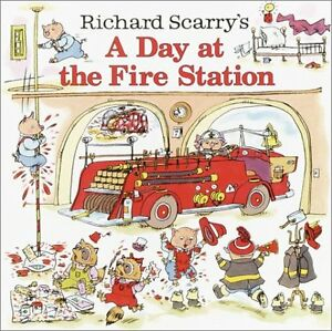 Richard-Scarrys-A-Day-at-the-Fire-Station-Pictureback-R-by-Richard-Scarry