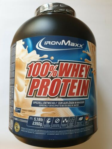 100/% WHEY PROTEIN 2350g // Dose IRONMAXX + 1 GRATIS Shaker MHD-Ware 11//2019
