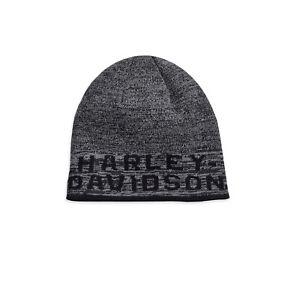 a848ed976 Details about Harley-Davidson Men's Reversible Heathered Knit Beanie Hat,  Black 97803-19VM