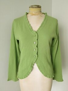 VGC Castle of Ireland Light Green 100% Cashmere Cardigan Sweater ...
