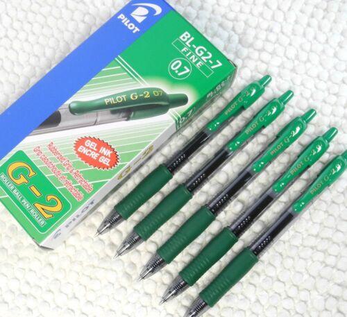 free ship 12 pcs Pilot BL-G2-7 fine 0.7mm roller ball pen BLUE BLACK ink