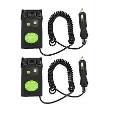 2x Car charger Battery Eliminator Adaptor For Wouxun Radio KG-UVD1P KG-UV6D 659