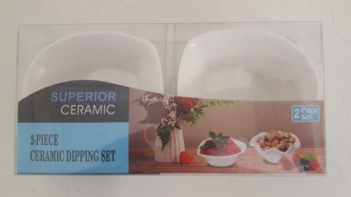 2 Porcelana Tapas servindo acompanhamentos appetiser Doce Lanches Chapa Porca mergulha Bowl