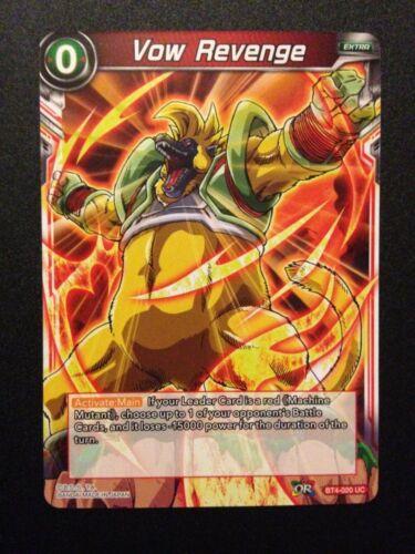 BT4-020 UC Vow Revenge Dragonball Super