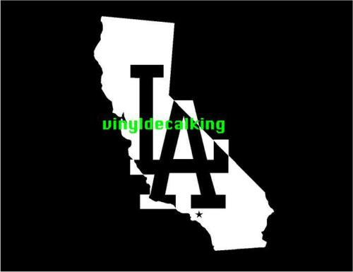 LA Dodgers LOS ANGELES CALIFORNIA VINYL STICKER  DECAL VEHICLE GRAPHIC CUSTOM.