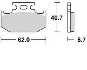 BRAKING-PASTIGLIE-FRENO-POSTERIORE-KAWASAKI-KX-250-1989-1994-BRAKE-PADS-REAR