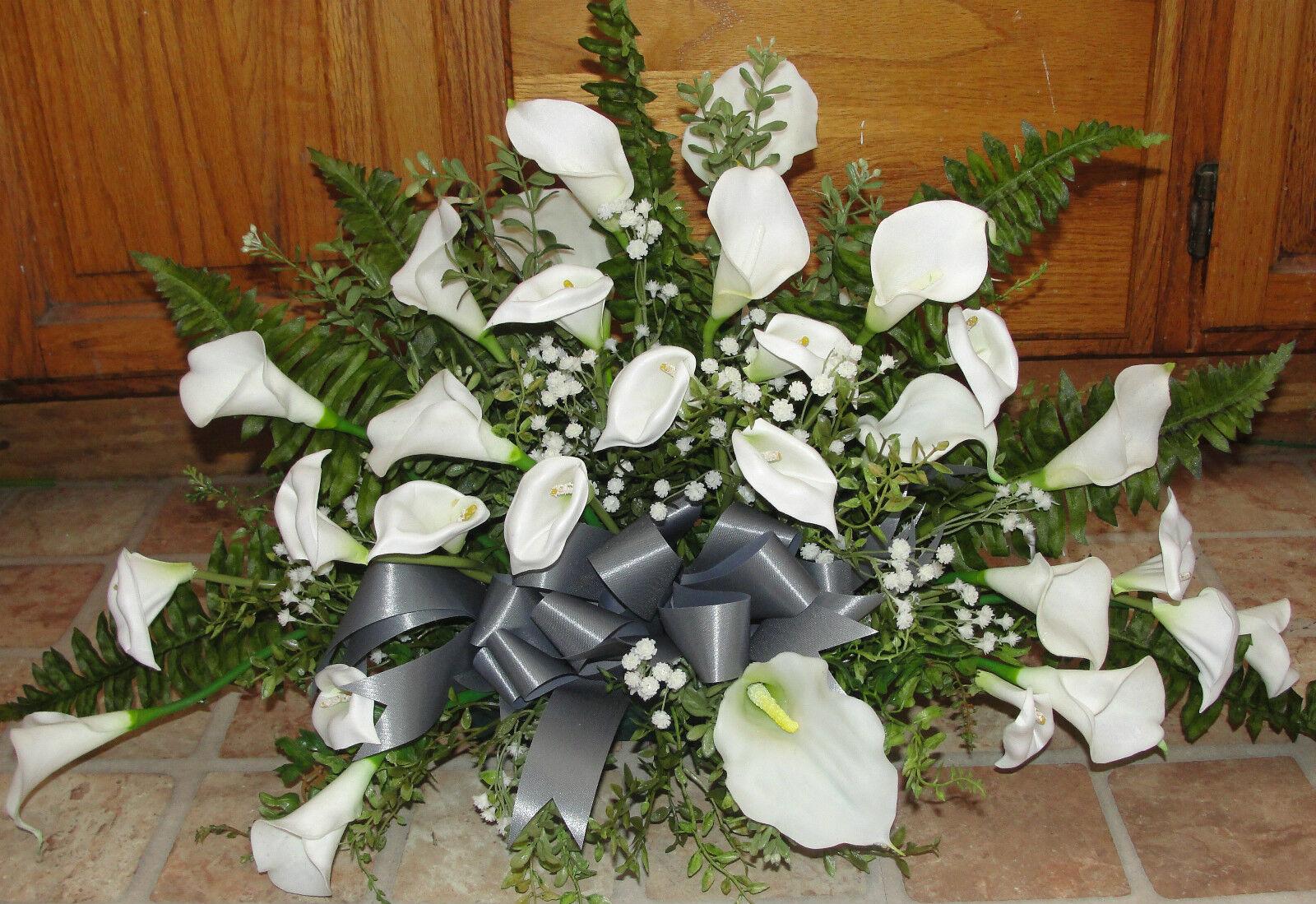 4 Calla Lily Table Centerpieces Silk Flowers Petite Bouquet to Match Altar Arrg