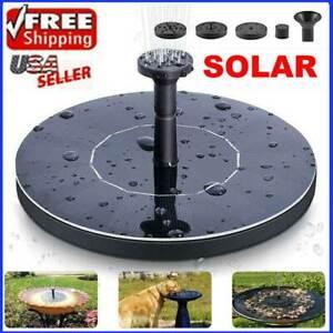 Solar Power Bird Bath Fountain Pump Upgrade 1.5W Solar Fountain with 4 Nozzle