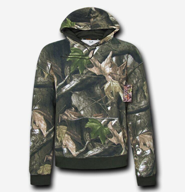 RapDom HYBRiCAM Pullover Hoodie grauBark rotneck Hunter camouflage Hoody XLarge