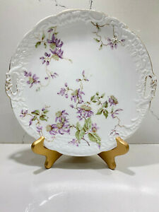 Antique-CT-Altwasser-Carl-Tielsch-Germany-Handled-Cake-Plate
